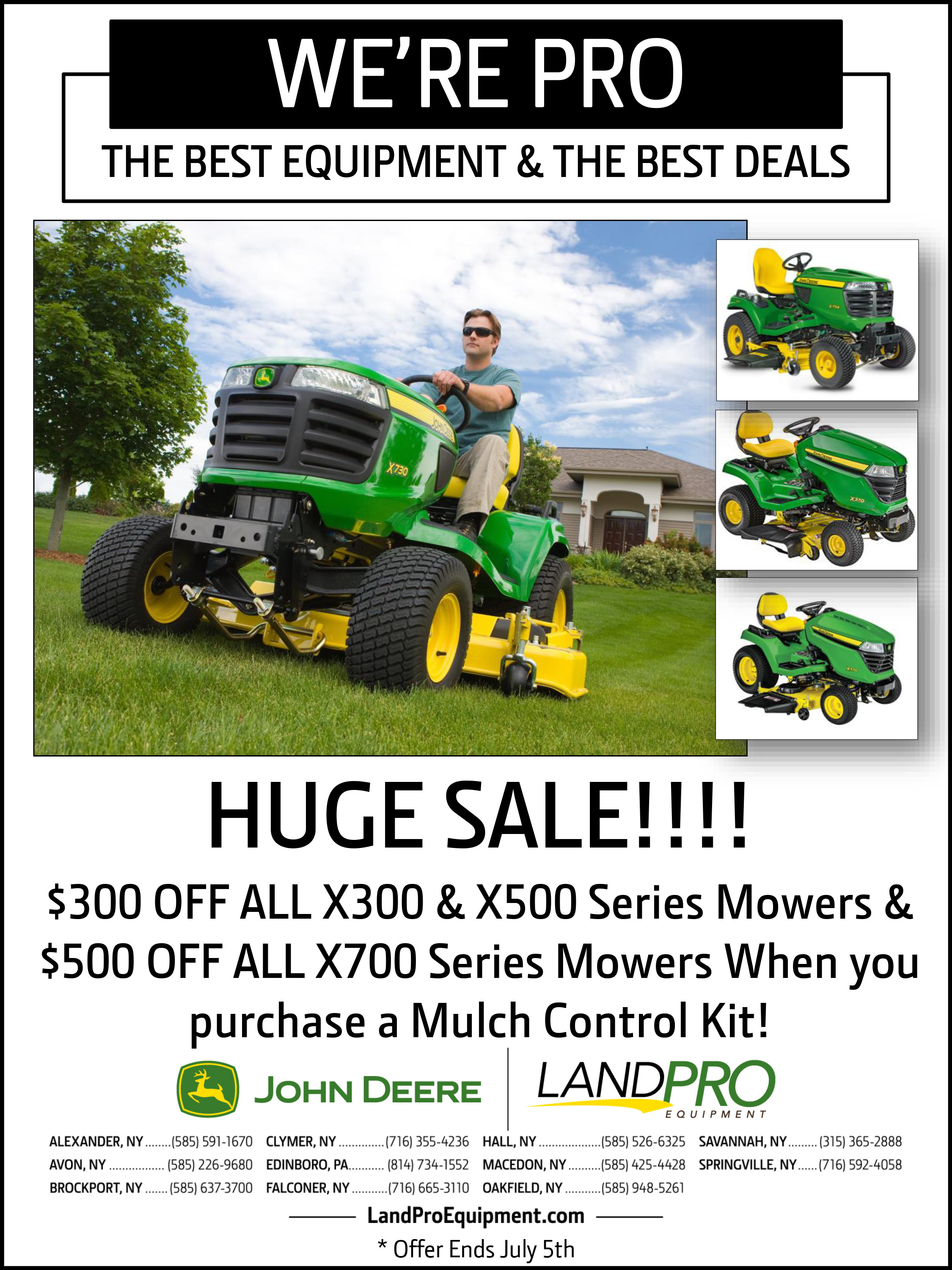 Huge Sale!!! $300 Off X300 & X500 Series Mowers | $500 Off All X700 Series Mowers