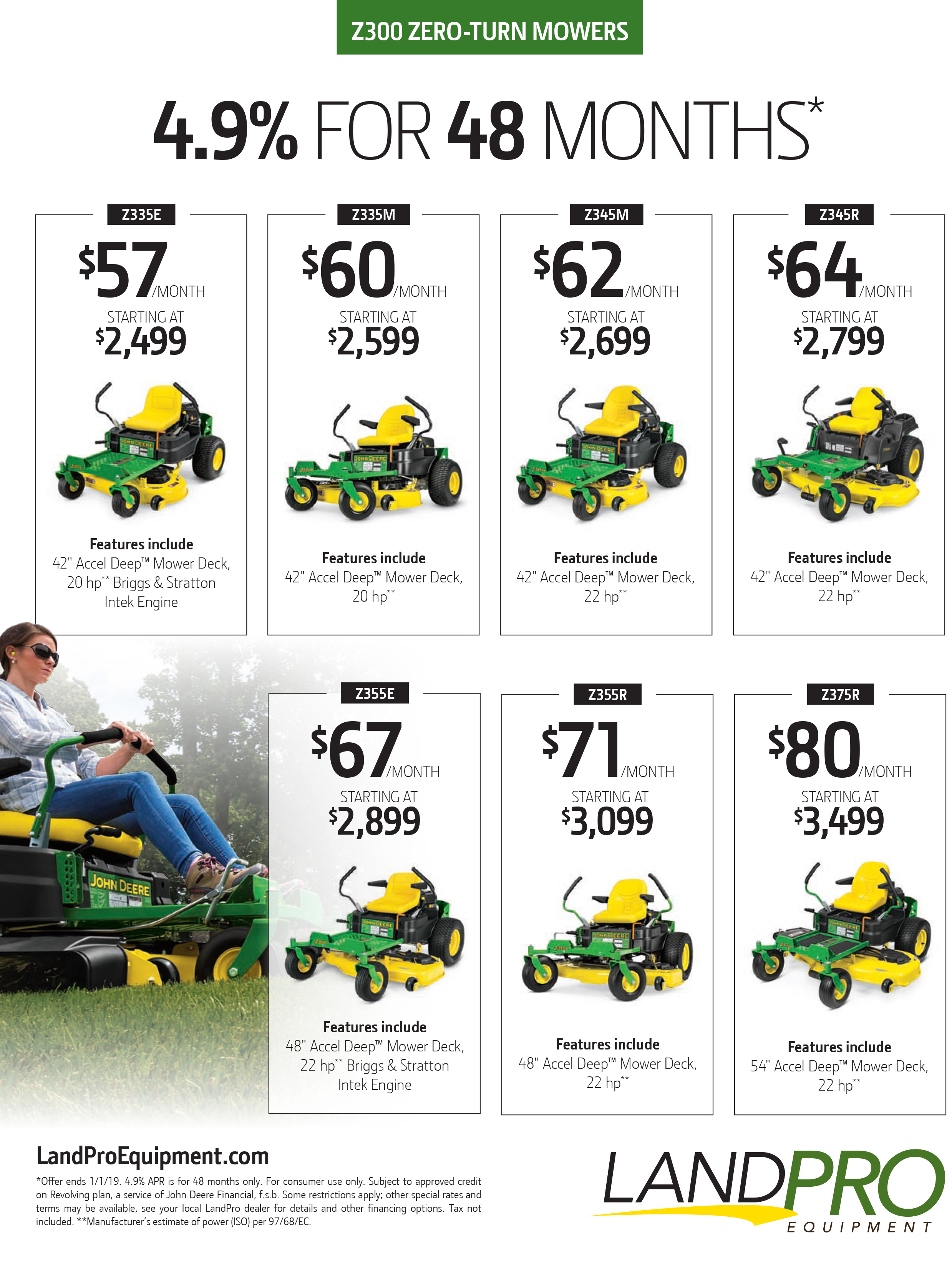 Promotions events landpro equipment ny oh pa z300 zero turn mowers publicscrutiny Image collections