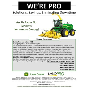 Forage Harvesters No Payment No Interest