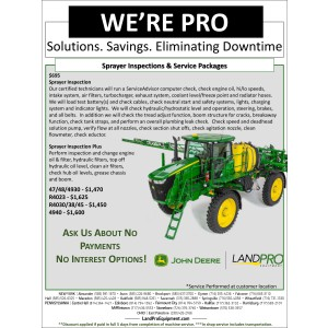 Sprayer Inspections and Service Packages